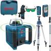 BOSCH GRL 300 HVG Nivela laser rotativa cu laser VERDE (300 m) +  BT 300 HD Trepied + GR 240 Rigla
