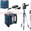 BOSCH GRL 500 HV + LR 50 Nivela laser rotativa orizontal/vertical (500 m) + Receptor/telecomanda +  BT 300 HD Trepied + GR 240 Rigla
