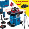 BOSCH GRL 600 CHV + LR 60 + RC 6 Nivela laser rotativa orizontal/vertical (600 m) + Receptor si telecomanda + BT 300 Trepied