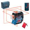 BOSCH GLL 3-80 C Nivela laser cu linii (30 m) + LR 6 Receptor