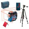BOSCH GLL 3-80 C + BT 150 Nivela laser cu linii (30 m) + Stativ + LR 6 Receptor