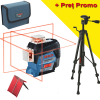 BOSCH GLL 3-80 C + BT 150 Nivela laser cu linii (30 m) + Stativ