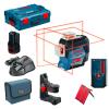 BOSCH GLL 3-80 C + BM 1  Nivela laser cu linii (30 m) + Suport + 1 acumulator 12V + L-BOXX + LR 6 Receptor