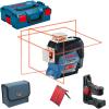 BOSCH GLL 3-80 C + BM 1 Nivela laser cu linii (30 m) + Suport + L-BOXX