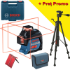 BOSCH GLL 3-80 + BT 150 Nivela laser cu linii (30 m) + Valiza + Stativ