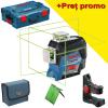 BOSCH GLL 3-80 CG + BM 1 Nivela laser cu linii verzi (30 m) + Suport + L-BOXX