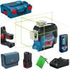 BOSCH GLL 3-80 CG + BM 1 Nivela laser cu linii verzi (30 m)  cu Bluetooth + Suport + 2 acumulatori Li-Ion, 2Ah + Incarcator rapid de 4Ah GAL12V-40+ L-BOXX + LR 7  Receptor