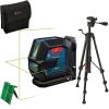 BOSCH GLL 2-15 G + LB 10 + BT 150 Nivela laser cu linii verzi (15 m) + Suport universal + Trepied