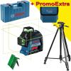 BOSCH GLL 3-80 G Nivela laser cu linii verzi (30 m) + Stativ ADA 160 cm