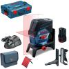 BOSCH GCL 2-50 C + RM 2 + BM 3 Nivela laser cu linii cu 1 acu 2Ah (20 m) cu Bluetooth + Suport rotativ + Suport perete + L-BOXX