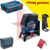 BOSCH GCL 2-50 C + RM 2 + BM 3 (SOLO) Nivela laser cu linii (20 m) + Suport professional + Clema pentru tavan + L-BOXX