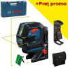 BOSCH GCL 2-50 G + RM 10 + DK 10 Nivela laser cu linii verzi (20 m) + Suport professional + Clema pentru tavan + Geanta