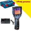BOSCH GTC 400 C Camera termica digitala, cu 1 acumulator Li-Ion, 3Ah + Incarcator dublu de 3Ah GAX 18V-30, 12V-18V + port USB + L-BOXX