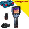 BOSCH GTC 400 C Camera termica digitala, cu 2 acumulatori Li-Ion, 2Ah + Incarcator rapid de 4Ah GAL12V-40 + L-BOXX