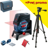 BOSCH GCL 2-50 C + RM 2 + BT 150 Nivela laser cu linii  (20 m) cu Bluetooth + Suport rotativ + Stativ