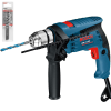 BOSCH GSB 13 RE Masina de gaurit cu percutie 600 W + Set 3 burghie zidarie 5/6/8 mm