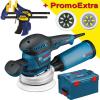 BOSCH GEX 125-150 AVE Slefuitor cu excentric 400 W + L-BOXX +  Set 2 menghine IRWIN