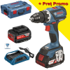 BOSCH GSR 18 V-EC WIRELESS Masina de gaurit si insurubat cu 2 acumulatori wireless Li-Ion, brushless, 4Ah, 60Nm + L-BOXX