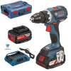 BOSCH GSR 18 V-EC WIRELESS Masina de gaurit si insurubat brushless, cu 2 acumulatori wireless Li-Ion, 4Ah, 60Nm + L-BOXX