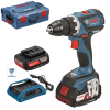 BOSCH GSR 18 V-EC WIRELESS Masina de gaurit si insurubat cu 2 acumulatori wireless Li-Ion, brushless, 2Ah, 60Nm + L-BOXX