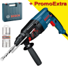 BOSCH GBH 2-26 DRE Ciocan rotopercutor SDS-plus 800 W, 2.7 J +  Set 3 burghie SDS-plus-5X 6/8/10mm