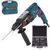 BOSCH GBH 2-28 Ciocan rotopercutor SDS-plus 880 W, 3.2 J +  Set mixt 11 accesorii SDS-PLUS