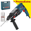 BOSCH GBH 2-28 Ciocan rotopercutor SDS-plus 880 W, 3.2 J + Set 3 burghie SDS-plus-5X 6/8/10mm