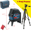 BOSCH GCL 2-15 + RM 1 + BT 150 Nivela laser cu linii (15 m) + Suport professional + Stativ