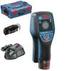 BOSCH D-tect 120 + GAA 12V Detector de metale cu 1 acu de 1.5Ah si unul de 2Ah + L-BOXX + Adaptor USB