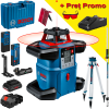 BOSCH GRL 600 CHV + LR 60 + RC 6 Nivela laser rotativa orizontal/vertical (600 m) + Receptor si telecomanda + BT 170 Trepied + GR 240 Rigla