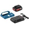 BOSCH GBA18VW + GAL1830W Acumulator Li-Ion, 18 V, 2 Ah, Wireless + Incarcator Li-Ion, 12-18 V, Wireless