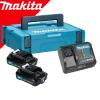 MAKITA  Kit acumulatori CXT 12 V, 2 Ah (MAKPAC1 + BL1220x2 + DC10SB)