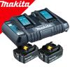 MAKITA  Kit acumulatori Li-Ion, 18V LXT, 6Ah (BL1860Bx2 + DC18RD)