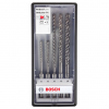 BOSCH  Set 5 burghie SDS-PLUS 7X, 5-10 mm