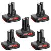 BOSCH GBA12VW Acumulator LI-Ion, 12 V, 2.5 Ah, Wireless (5 bucati)