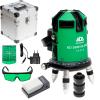ADA 6D SERVOLINER GREEN Nivela laser cu linii verzi (40/70 m) + Ochelari + Valiza de aluminiu