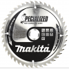 MAKITA  Disc circular lemn 165x20x44T special pentru circulare cu acu