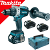 MAKITA DDF481RT3J Masina de gaurit si insurubat brushless, cu 3 acumulatori Li-Ion, 18V, 5Ah, 115Nm