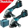 MAKITA DGA504ZJX2 Kit 2 polizoare unghiulare brushless cu 2 acumulatori Li-Ion, 18V, 5Ah + Makpac x 2 buc