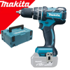 MAKITA DHP480ZJ Masina de gaurit cu percutie si insurubat Li-Ion, brushless, 18V, 54Nm fara acumulator in set (SOLO) + Makpac