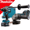 MAKITA DK0124G201 Kit 2 scule 40V XGT (DF001G + GA005G) cu 2 acumulatori Li-Ion, de 4 Ah + Valiza Makpac