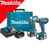 MAKITA DLX2127X1 Kit 2 scule 18V (DDF482Z + DTD152Z) cu 3 acumulatori Li-Ion LXT, de 3Ah + Valiza