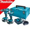 MAKITA DLX2131JX1 Kit 2 scule 18V (DHP482Z + DTD152Z) cu 3 acumulatori Li-Ion LXT, de 3Ah + Makpac