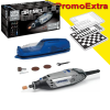 DREMEL 3000-05 KIT 3 STAR Unealta multifunctionala 130W + Tabla sah