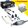 DREMEL 3000-3/55 KIT 4 STAR Unealta multifunctionala 130W + Tabla sah