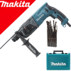 MAKITA HR2470X9 Ciocan rotopercutor SDS-plus 780W, 2.4J + D-33853 Set 25 burghie SDS PLUS 5/6/7 mm