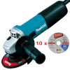 MAKITA 9557HNRG Polizor unghiular mic 840 W, diametru disc 115 + D-18661 Set 10 discuri taiere otel 115x2.5 mm