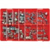 CROMWELL  Trusa cleme sa - BZP ASSORTED ZINC PLATED MINI CLIPS(NUT & BOLT) 65PC