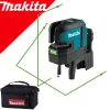 MAKITA SK106GDZ Nivela laser verde cu linii si puncte 25 m (80 m cu receptor), Li-Ion, 12V (SOLO)