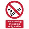 CROMWELL  Placuta de interdicitie NO SMOKING INCLUDING E-CIGARETTES148x210 mm  RIGID